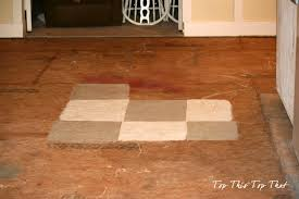 how to be bold enough to paint a floor
