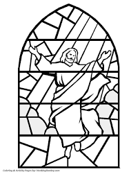 Printable Stained Glass Coloring Pages At Getdrawingscom Free For