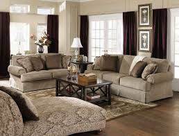 Romantic Living Room Decorating Cream Storage Drawers Couch Idea Classic Dark Red Wallpaper Wall