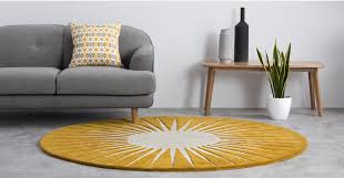 vaserely large circular wool rug 200cm mustard rugs home accessories made com