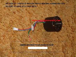 wood stove parts sf782012 3 speed motor wiring harness used on silent flame and long stoves