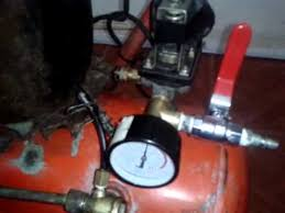 compresor de aire casero. compresor de aire casero : prueba presostato e