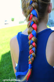 Fourth Of July Hairstyles Fourth Of July Hair Ribbon Braids