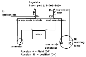 chang jiang 12v Bosch Regulator Wiring Diagram note that the generator light output on the regulator is not needed as it is on the generator terminal itself Basic 12 Volt Wiring Diagrams