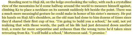 greg mortenson disgraced author of three cups of tea believes  excerpt from three cups of tea page 33