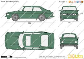 The-Blueprints.com - Vector Drawing - Saab 99 Turbo