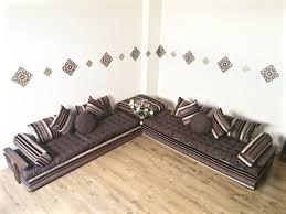 moroccan floor seating. Luxurious Moroccan Floor Cushion, Sofa Bed, Double Futon Corner Suite, Majlis, Daybed, Seating