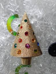 Cone Shaped Christmas Tree Lights Corocraft Light Up Rhinestone Christmas Tree Pin Conical