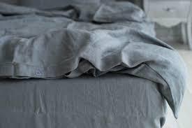 dark grey bedding. Premium French Linen Dark Grey Bedding Set