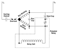 know your potential starting relays how a potential relay is wired to a capacitor start capacitor run compressor motor here the motor is off