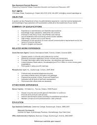 Samples Of Receptionist Resumes Zromtk Adorable Spa Receptionist Resume
