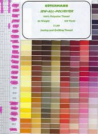 Gutermann Polyester Thread Sew All Polyester Thread This Is The Small Size 109 Yards 2 Color Numbers 325 Thru 518