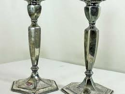 tall mercury glass pillar candle holders