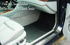 How to Clean Rubber Car Mats in 5 Quick Steps