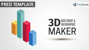 3d Bar Chart Maker Prezi Presentation Template Creatoz
