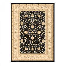 ziegler 7709 black cream traditional rug by mastercraft