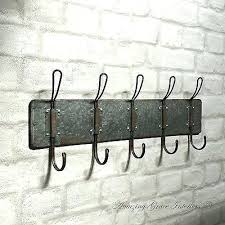 Industrial Style Coat Rack Adorable Industrial Coat Hooks Vintage Industrial Style Wall Mounted Coat
