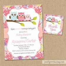 baby shower invitations free templates owl baby shower invitations diy printable baby girl shower