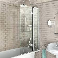 bath screen with access panel x shower plumbing diy