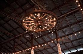 wooden wagon wheel chandelier