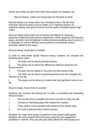 recount essay useful and great ideas for students to write recount essay useful and great ideas for students to write