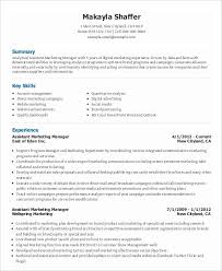 Marketing Assistant Resume Stunning 60 Marketing Resume Templates PDF DOC Free Premium Templates