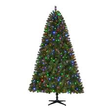 Pre-Lit LED Wesley Artificial Christmas Tree with Color Changing Lights