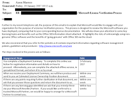 Is This Microsoft Audit Email Spam Mirazon