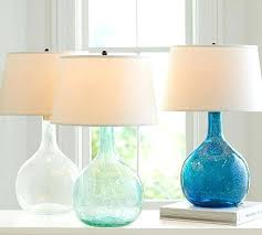 aqua glass colored table lamp shower surround