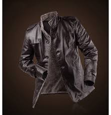 new winter leather jacket fur thickening wool windbreak waterproof leather men coat 2016