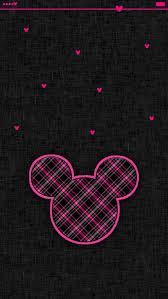 minnie mouse black checked disney