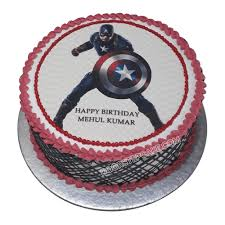 Captain America Birthday Cake Best Design Doorstepcake