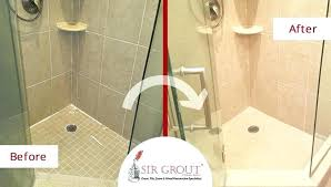 tile grout sealer sealing cleaning shower before and after picture of a service in ma tilelab