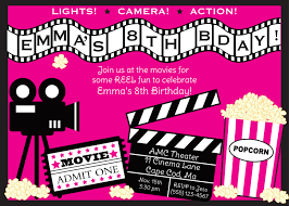 Movie Invitation Template Free 24th Birthday Ideas Movie Birthday Invitation Templates Free 1