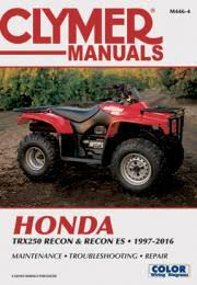 honda atv manuals diy repair manuals clymer honda trx250 recon recon es 1997 2016 service repair manual