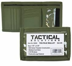 tri fold windows wallet tri fold military id outside window heavy duty