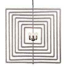 rope wrapped chandelier square wrapped rope chandelier diy rope wrapped chandelier