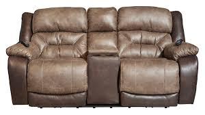 big tex power reclining loveseat w console