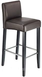 stenory brown padded kitchen breakfast bar stool wooden frame and legs
