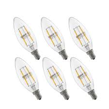 led candelabra light bulb dimmable e12 base chandelier 2 8w equivalent 20w incandescent 2700k warm white home lighting decorative 6pack