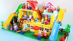 Lego Full House Peppa Pig House Construction Sets Lego Duplo House Creations