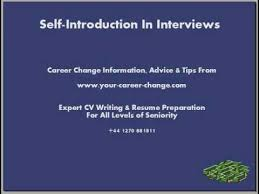 Interview Introduction Self Introduction Is Your Key To Interview Success Youtube