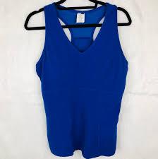 Nwt Bally Total Fitness Blue Tank Top Mesh Depop