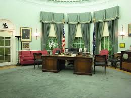 oval office design. Simple Design This Is A Seeming Recreation Of The Office And I Can Only Assume That Those  Red Upholstered Things Are From 1980s  On Oval Office Design