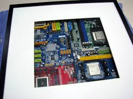 nerdy office decor. IKEA Hackers: G33ky Art - Old Motherboards In RIBBA Nerdy Decoration For Our Office Decor A