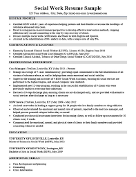 Social Work Resume Sample Custom Social Work Resume Sample Writing Tips Resume Companion