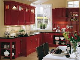 red country kitchens. Modren Country Red Country Kitchen Design With Black Top And White Backsplash  Curtain Glass Window Inside Red Country Kitchens K