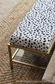 Dwellings By Devore Gold Upholstered Bench Tutorial Ikea