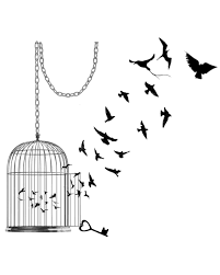 flying birds tattoo clipart.  Flying Black Birds Flying From Cage Tattoo Design And Clipart L