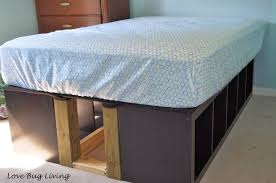 ikea storage bed frame. Full Size Bed: Ikea Expedit Hack. I Can Put Legos In Crates The. Bedside StorageStorage BedsIkea Storage Bed Frame S